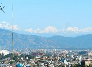 mountain view from kathmandu valley